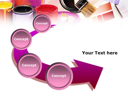 Wall Paint Colors PowerPoint Template Slide 6