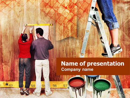 Construction: Plantilla de PowerPoint - ideas de pintura interior #01146
