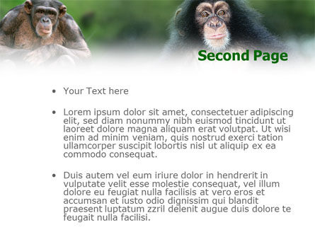 Baby Ape PowerPoint Template Slide 2