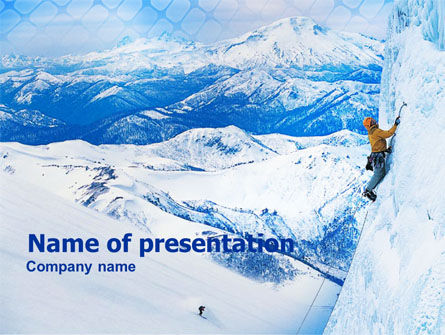 Sports: Mountain Climbing PowerPoint Template #01149