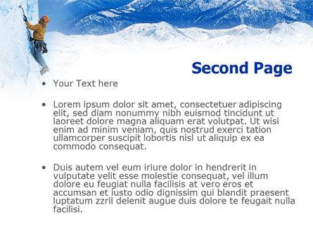 Mountain Climbing PowerPoint Template Slide 2