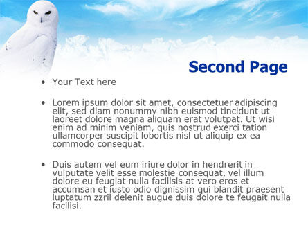 White Owl PowerPoint Template, Slide 2, 01152, Animals and Pets — PoweredTemplate.com