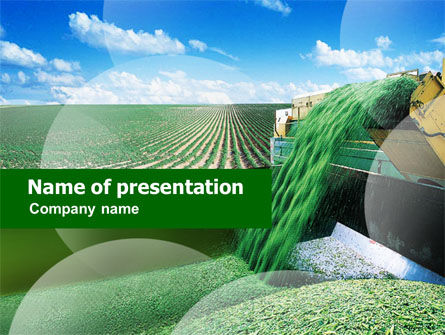 Pea Harvest PowerPoint Template