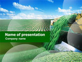 Agriculture: Pea Harvest PowerPoint Template #01153