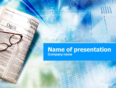 Morning Business Newspaper Powerpoint Template, Backgrounds