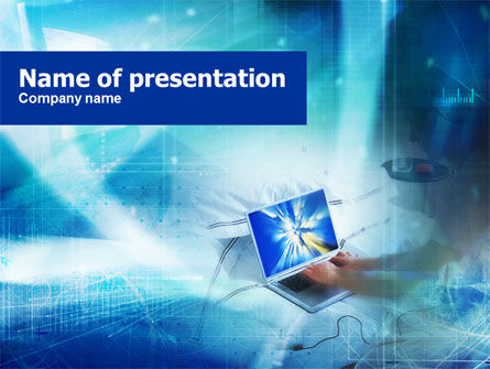 Computer Operation PowerPoint Template, 01155, Technology and Science — PoweredTemplate.com