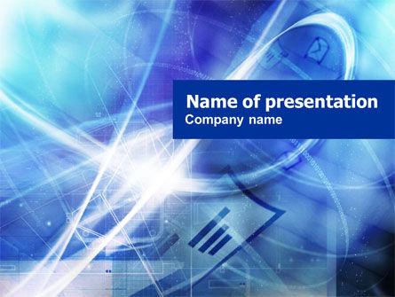Telecommunication: 电子邮件连接PowerPoint模板 #01157