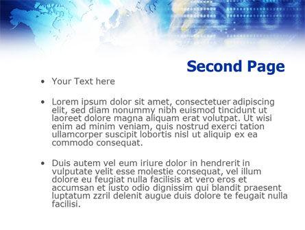 Blue Global Code PowerPoint Template, Slide 2, 01158, Telecommunication — PoweredTemplate.com