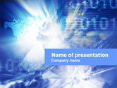Telecommunication: Blue Global Code PowerPoint Template #01158