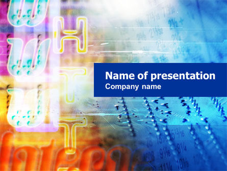 Telecommunication: Internet Theme PowerPoint Template #01159