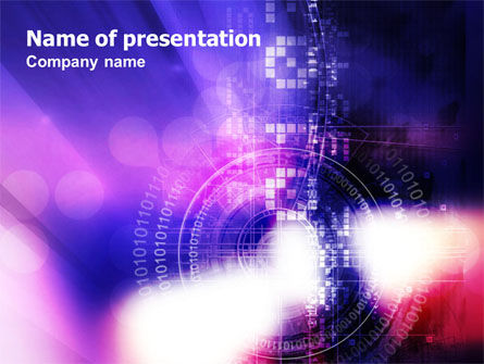 Business Concepts: Purple Code PowerPoint Template #01160