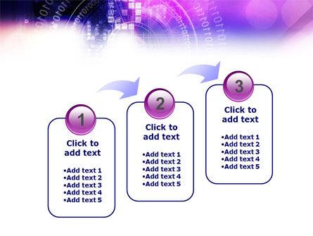 Purple Code PowerPoint Template Slide 14