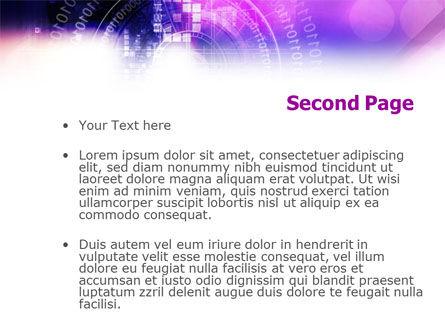 Purple Code PowerPoint Template Slide 2