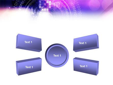 Purple Code PowerPoint Template Slide 6