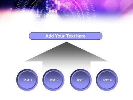 Purple Code PowerPoint Template Slide 8