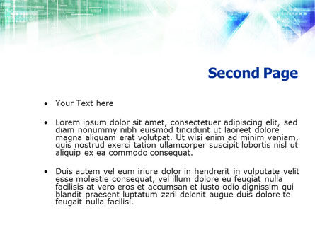 Technology Theme PowerPoint Template, Slide 2, 01161, Technology and Science — PoweredTemplate.com