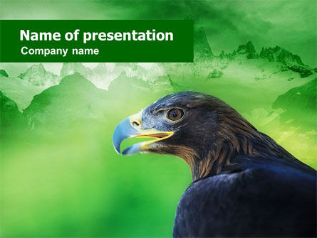 Animals and Pets: Golden Eagle PowerPoint Template #01162