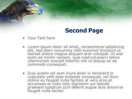 Golden Eagle PowerPoint Template, Slide 2, 01162, Animals and Pets — PoweredTemplate.com