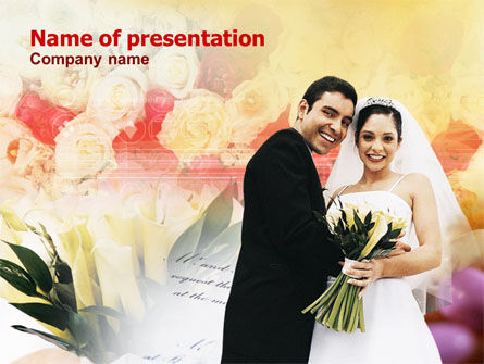 Married Couple Photo PowerPoint Template