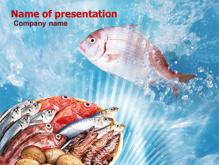 Fish Products PowerPoint Template, 01164, Food & Beverage — PoweredTemplate.com