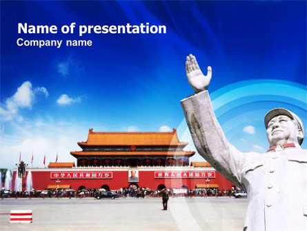 Mao's China PowerPoint Template, 01169, People — PoweredTemplate.com