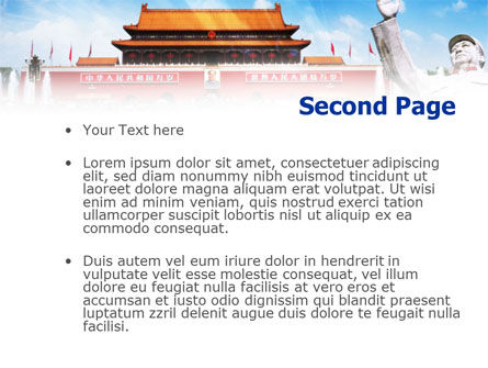 Mao's China PowerPoint Template, Slide 2, 01169, People — PoweredTemplate.com