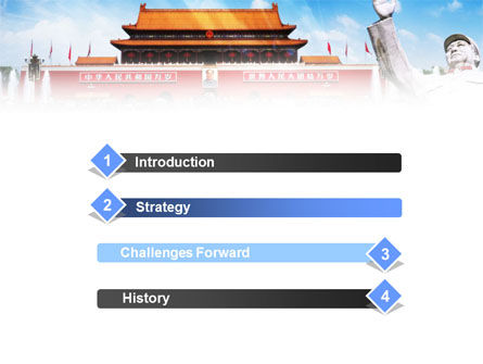 Mao's China PowerPoint Template, Slide 3, 01169, People — PoweredTemplate.com