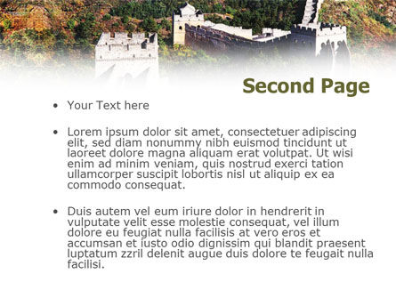 Great Wall Of China PowerPoint Template Slide 2