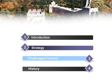 Great Wall Of China PowerPoint Template Slide 3