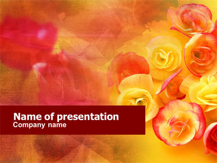 Rose Bouquet PowerPoint Template, 01171, Holiday/Special Occasion — PoweredTemplate.com