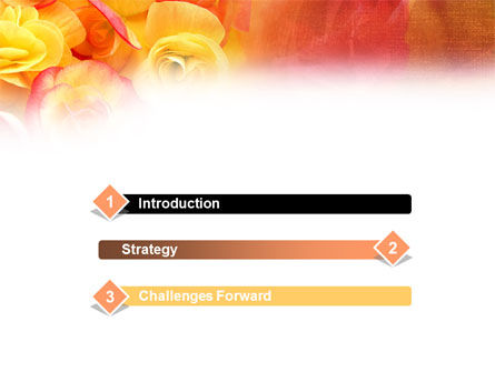 Rose Bouquet PowerPoint Template, Slide 3, 01171, Holiday/Special Occasion — PoweredTemplate.com