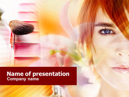 Makeup Cleanser PowerPoint Template, 01173, Careers/Industry — PoweredTemplate.com