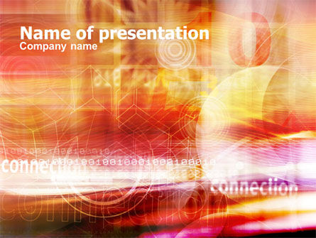 Telecommunication: Internet Connection PowerPoint Template #01175