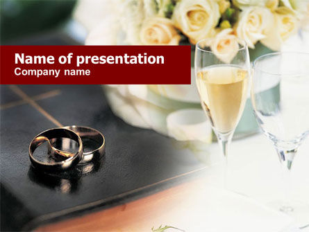 Holiday/Special Occasion: Modello PowerPoint - Anelli di matrimonio #01178