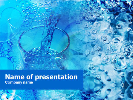 Pouring Water Powerpoint Template Backgrounds