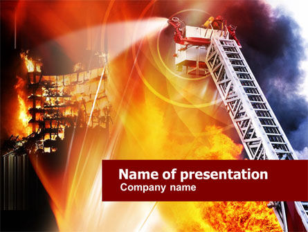 Careers/Industry: Fire Fighting PowerPoint Template #01181