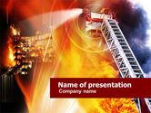 Careers/Industry: Feuer bekämpfen PowerPoint Vorlage #01181