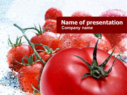 Tomatoes PowerPoint Template, 01182, Food & Beverage — PoweredTemplate.com