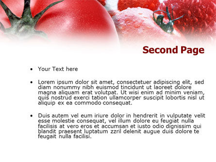 Tomatoes PowerPoint Template Slide 2