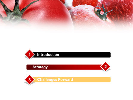 Tomatoes PowerPoint Template, Slide 3, 01182, Food & Beverage — PoweredTemplate.com