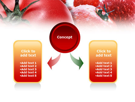 Tomatoes PowerPoint Template, Slide 4, 01182, Food & Beverage — PoweredTemplate.com