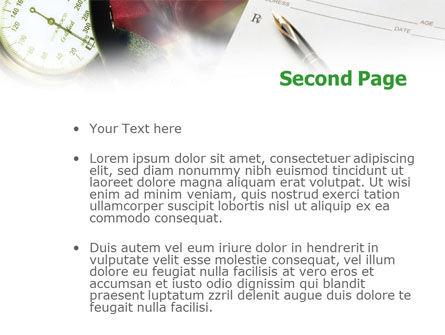 Medical Center Card PowerPoint Template, Slide 2, 01185, Abstract/Textures — PoweredTemplate.com