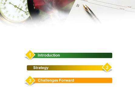 Medical Center Card PowerPoint Template, Slide 3, 01185, Abstract/Textures — PoweredTemplate.com