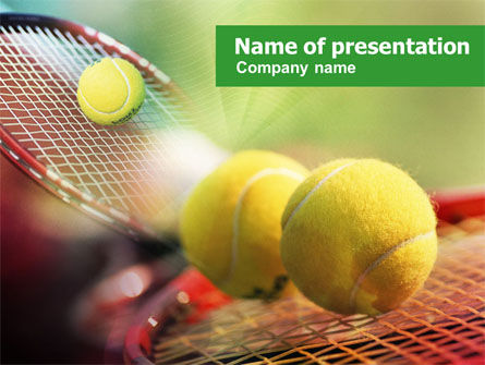 Sports: Tennis Balls And Rackets PowerPoint Template #01186