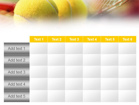 Tennis Balls And Rackets PowerPoint Template Slide 15