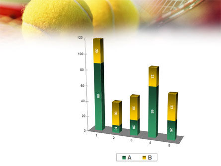 Tennis Balls And Rackets PowerPoint Template Slide 17