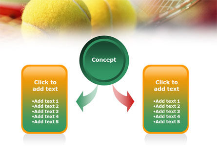 Tennis Balls And Rackets PowerPoint Template, Slide 4, 01186, Sports — PoweredTemplate.com