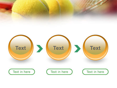 Tennis Balls And Rackets PowerPoint Template Slide 5