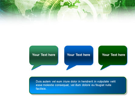 World Technological Theme PowerPoint Template Slide 9