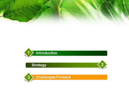 Leaves PowerPoint Template, Slide 3, 01188, Nature & Environment — PoweredTemplate.com